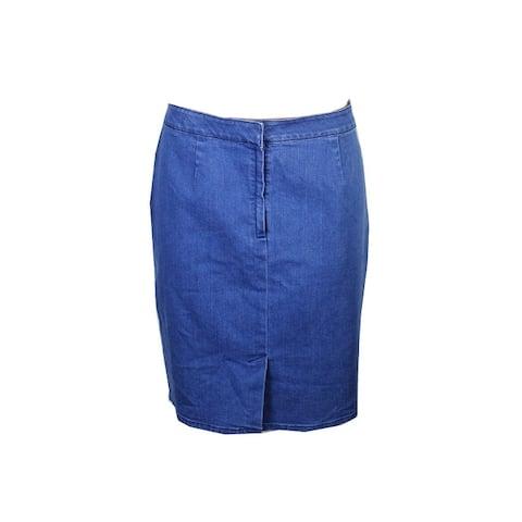 Vince Camuto Meduim Blue Denim Skirt 10