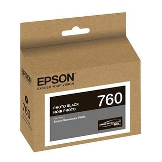 Epson T760120 Ultrachrome Hd Photo Black Standard Capacity Cartridge Ink