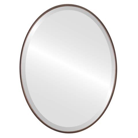 Singapore Framed Oval Mirror - Rubbed Bronze - Rubbed Bronze