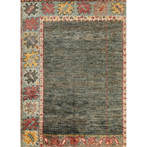 """Tribal Moroccan Oriental Area Rug Hand-knotted Contemporary Carpet - 6'1"""" x 8'0"""""""