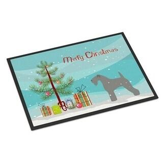 Carolines Treasures BB2910JMAT Kerry Blue Terrier Merry Christmas Tree Indoor or Outdoor Mat 24 x 36