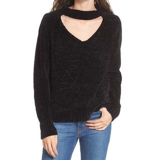 Love by Design Womens Small Chenille Choker Pullover Sweater