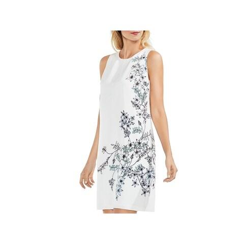 Vince Camuto Womens Spring Romance Mini Dress Satin Floral Print