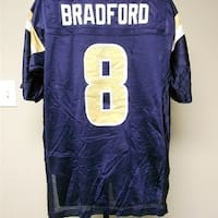 54298c77 Shop MINOR-FLAW Sam Bradford #8 St. Louis Rams MENS M MEDIUM Reebok ...