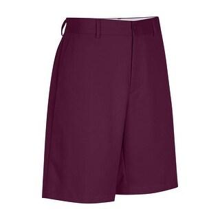 "Greg Norman for Tasso Elba Big & Tall Flat Front Shorts 42 Cherry Plum 9.5"""