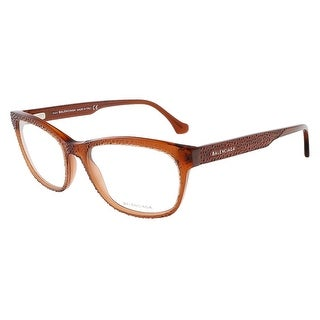 Balenciaga BA5037/V 042 Dark Orange Rectangular prescription-eyewear-frames - 55-17-140