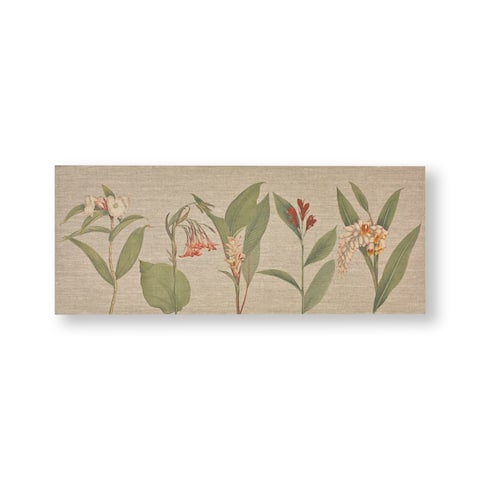 "Graham and Brown 104012 Botanical Bliss 16"" x 39"" Frameless Botanical Painting on Stretched Canvas - Neutral"