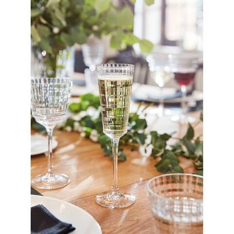 Cristal D'Arques 5.75 Ounce Iroko Champagne Flute, Set of 4 - 5.75 ounce