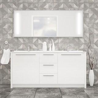 """Link to Nona 71"""" Double Sink Freestanding Bathroom Vanity Set Similar Items in Bathroom Vanities"""
