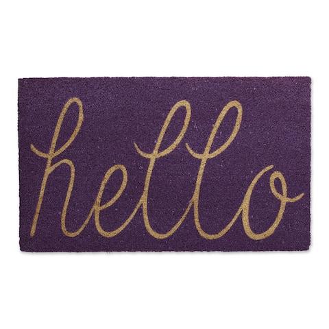 "30"" Vibrant Unique ""Hello"" Rectangular Doormat"
