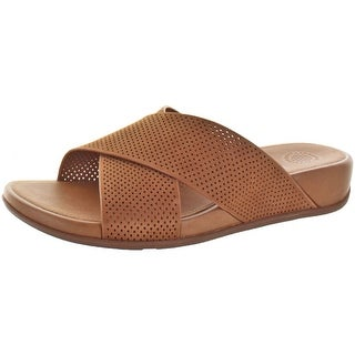 FitFlop Women's Aix Slide Perf Slides Sandals Leather