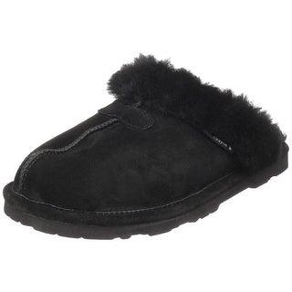 Bearpaw Womens Loki Fur Closed Toe Pull On Slippers