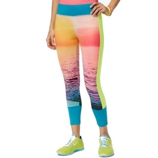 Energie NEW Blue Pink Women's Size Small S Printed Leggings Pants