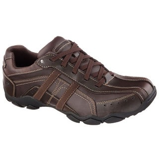 Skechers Diameter Murilo Men's Casual Oxford Shoes Brown Size