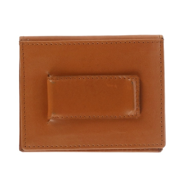 859935b72942 CTM® Men's Leather Slim Bifold Wallet with Money Clip - one size