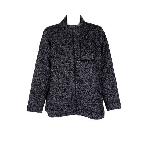Calvin Klein Plus Size Charcoal Heathered Jacket Zip-Up Jacket 0X