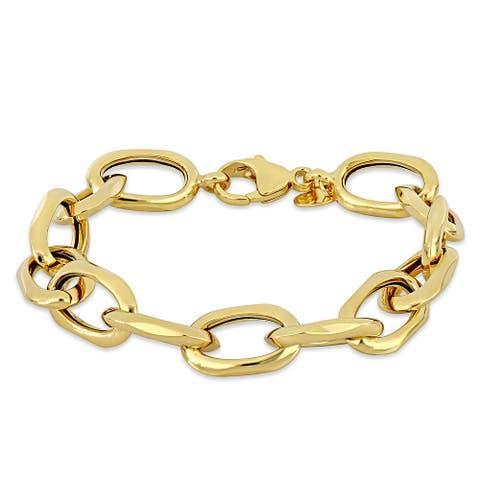 Miadora Oval Link Golden Bracelet in 14k Yellow Gold