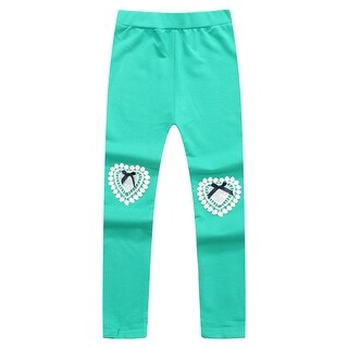 Richie House Girls' Knitting Leggings with Lace at Knee