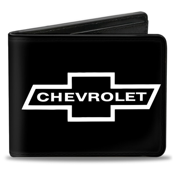 1965 Chevrolet Bowtie Black White Bi Fold Wallet - One Size Fits most