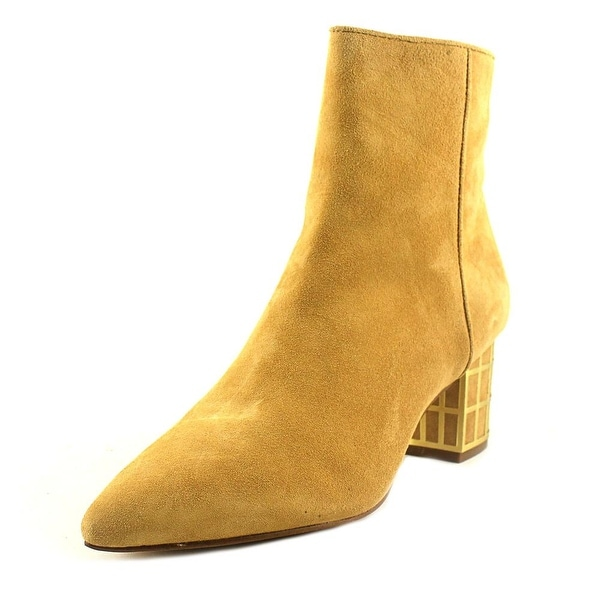Brian Atwood Kallie Women Pointed Toe Suede Tan Ankle Boot