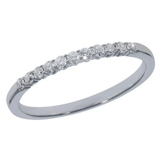 Prism Jewel 0 15Ct Round G H I3 Natural Diamond Stackble Ring 1 84mm Wide