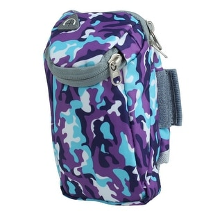 FreeKnight Authorized Sports Running Nylon Arm Bag Phone Pack Camouflage Purple