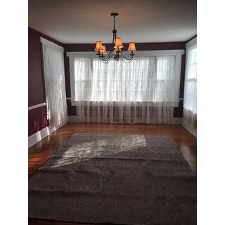 Boho Lace Sheer Poletop Single Curtain Panel