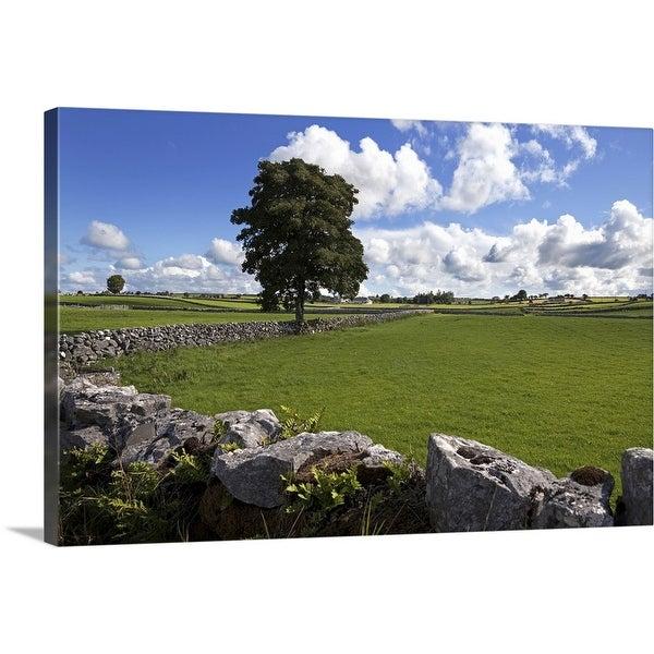 """Pastoral farmland between Clonbur and Ballinrobe, County Mayo, Ireland"" Canvas Wall Art"