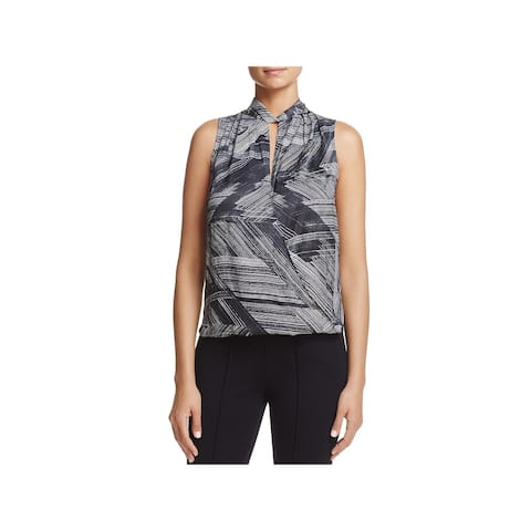 Kenneth Cole New York Womens Blouse Printed Colorblock