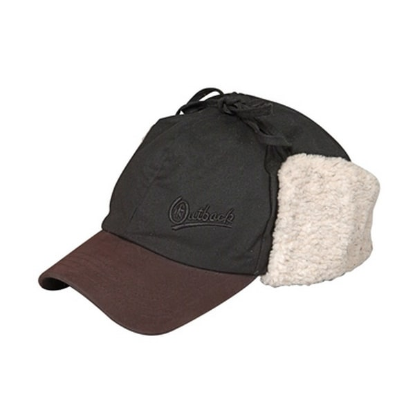 Shop Outback Trading Hat Mens McKinley Oilskin Baseball Cap Ear Flaps -  Free Shipping On Orders Over  45 - Overstock - 17361323 cc106f8b0d0
