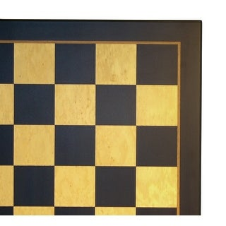 23.5 Inch Black & Madrona Burl Chess Board