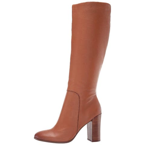Kenneth Cole New York Womens Justin Leather Almond Toe Knee High Fashion Boots