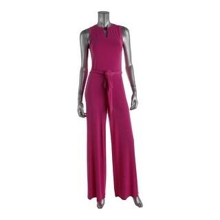 Ralph Lauren Womens Keyhole Crepe Jumpsuit - XL