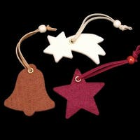 Club Pack of 42 Star, Bell, and Shooting Star Assorted Colors Felt Ornaments - multi
