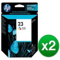 HP 23 Tri-color Original Ink Cartridge (C1823D) (2-Pack)