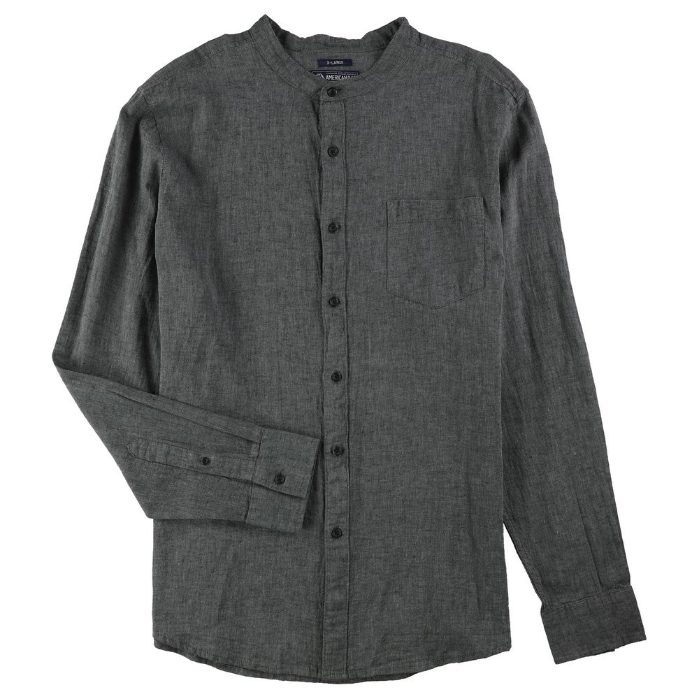 American Rag Mens Solid Ls Button Up Shirt