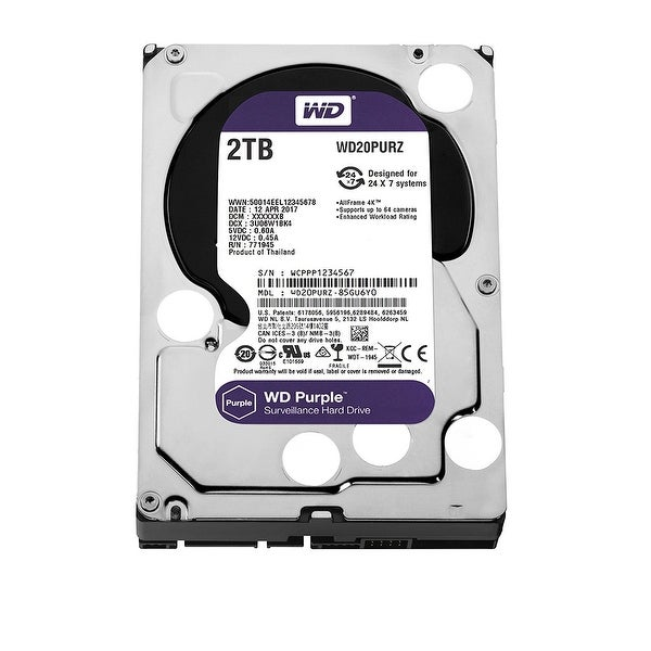 "Wd Purple Wd20purz 2Tb 3.5"" Enterprise Class Hdd 5400 Rpm Sata 6Gb/S 64Mb Cache"
