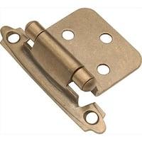 Antique Brass Surface Self-Closing Flush Hinge 2-Pack