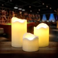 3PCS/set LED Flameless Candles Battery Operated Smokeless for Wedding Party Decorations Warm White