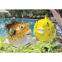 Design Toscano  Pudgy Pond Pufferfish Collection