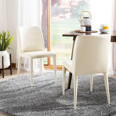 "Safavieh Dining Mid-Century Garretson Buttercream Dining Chairs (Set of 2) - 22.5"" x 17.4"" x 33.5"" - 22.5"" x 17.4"" x 33.5"""
