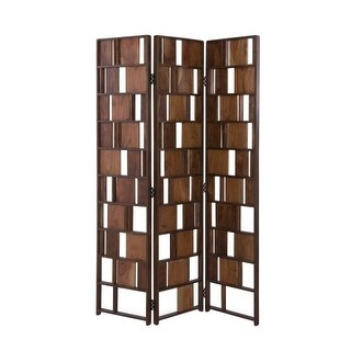 Moes Home Collection BZ-1015 47.5 Inch Wide Wood Multi-Panel Room Divider