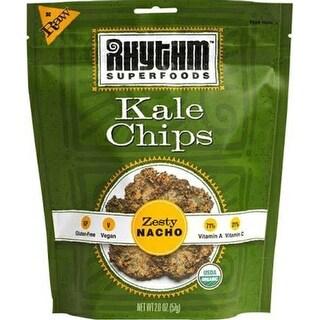 Rhythm Superfoods - Zesty Nacho Kale Chips ( 12 - 2 oz bags)
