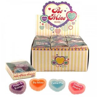 Bulk Buys Be Mine Scented Erasers Countertop Display, Pack of 36