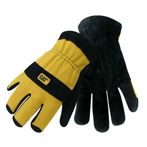 Cat CAT012222L Therm Lined Split Leather Palm Gloves, Large