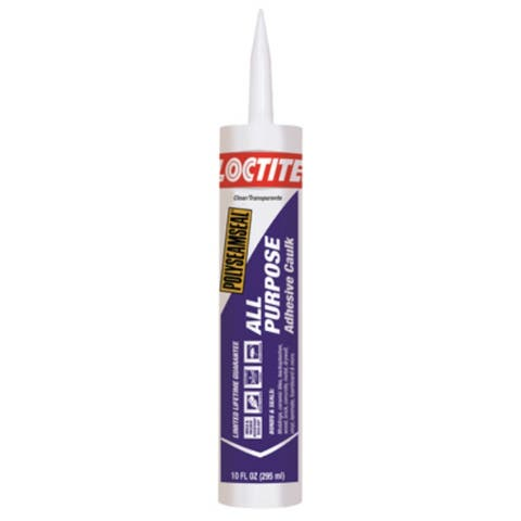 Loctite 2154740 Polyseamseal All Purpose Adhesive Caulk, Clear, 10 Oz