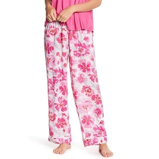 Kensie Pink Women's Size Large L Floral-Print Sleepwear Pants