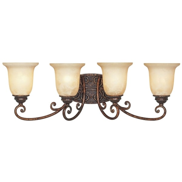 Designers Fountain 97504 Four Light Down Lighting Bathroom Fixture from the Amherst Collection - Burnt Umber