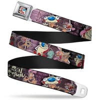 Ren & Stimpy Pose Full Color Black Ren & Stimpy Poses Text Purples Webbing Seatbelt Belt