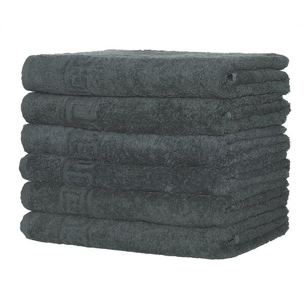 "Context 6-Pack Hand-Face Towel Super Soft 16"" x 28"" - Gray"